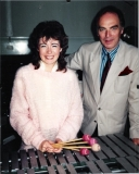 With Dame Evelyn Glennie 1982