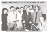 With Lutoslawski at Napier 1990